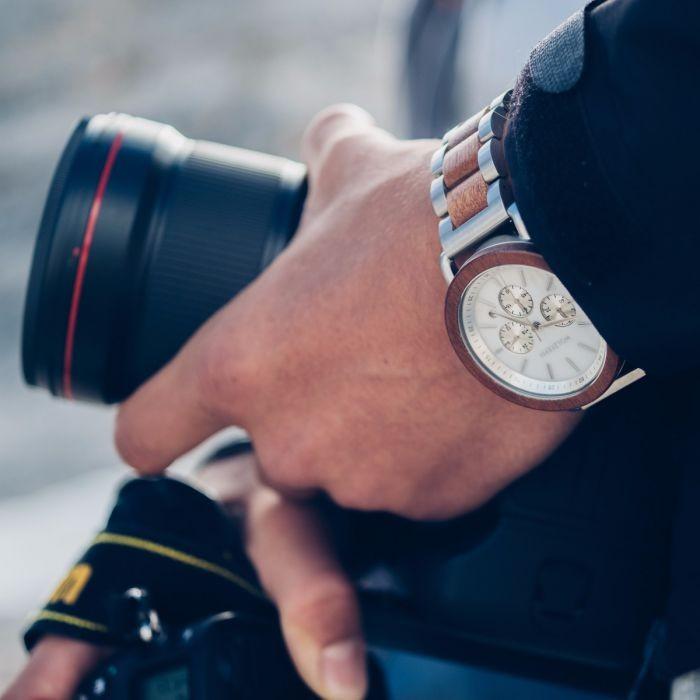 Holzkern Armbanduhr Nebelschleier