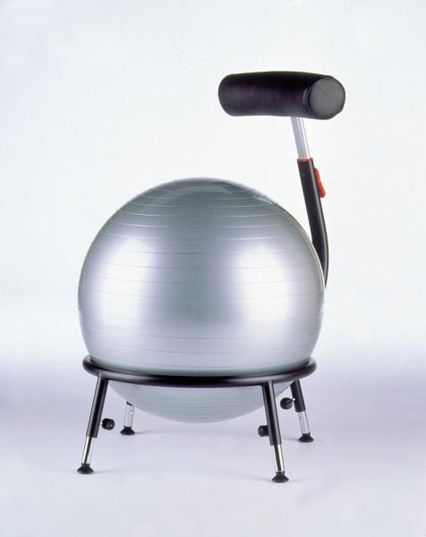 mit Gleitern silber Sitzball-Stuhl Pallone 2