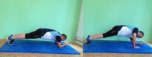 Athletiktraining push-up plank