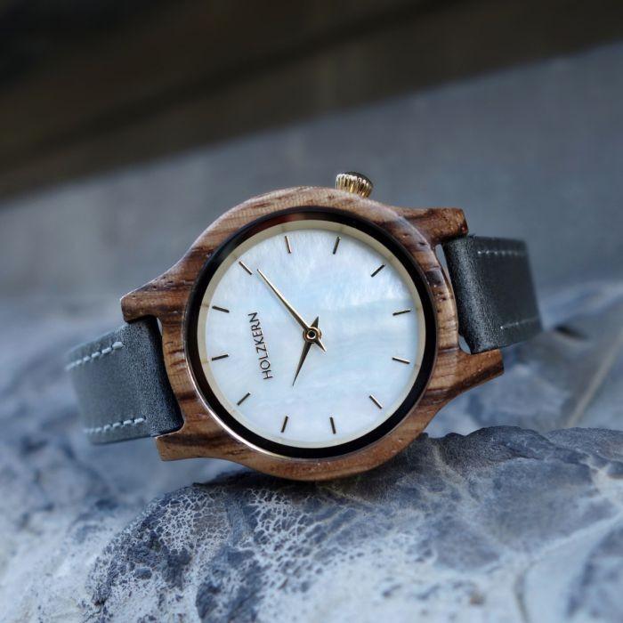 Holzkern Armbanduhr Gold Coast