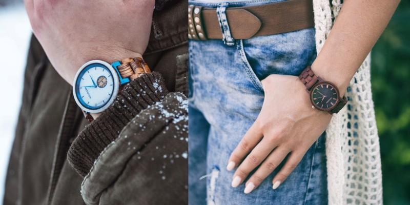 Holzkern Armbanduhren aus Echtholz