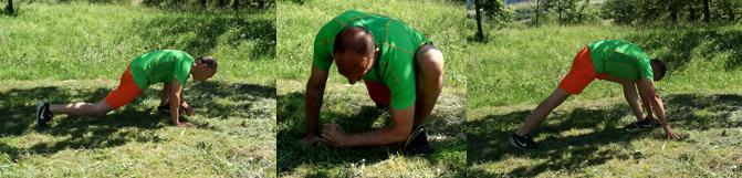 Core Training Ausfallschritt mit Ellbogenzum Boden