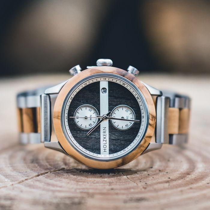 Holzkern Armbanduhr Millau Damenuhr