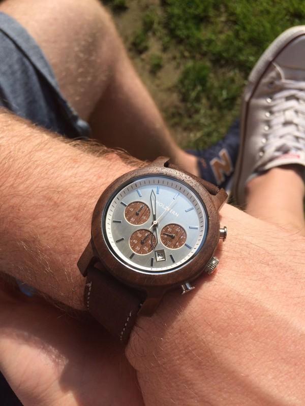 Holzkern Armbanduhr Unterholz