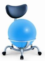 Ballstuhl Pallosit blau mit Rollen