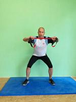 Athletiktraining Squat Sprünge