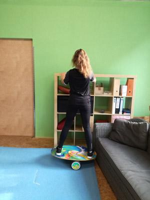 Einstieg Rollerboard-Training Ausgangsposition