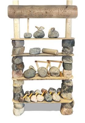Krafttraining mit Hanteln und Kettlebells aus Granit