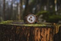 Holzkern Chronograph Unterholz (Walnuss/Lichtsilber)