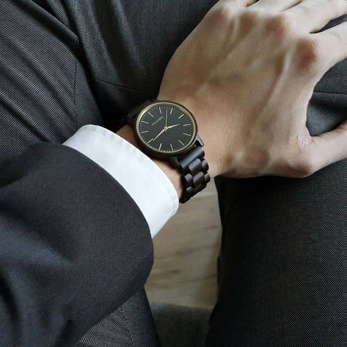 Holzkern Armbanduhr Männer Sommernacht