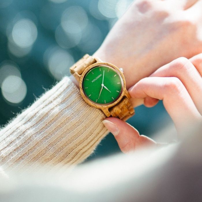 Holzkern Armbanduhr Hoffnung