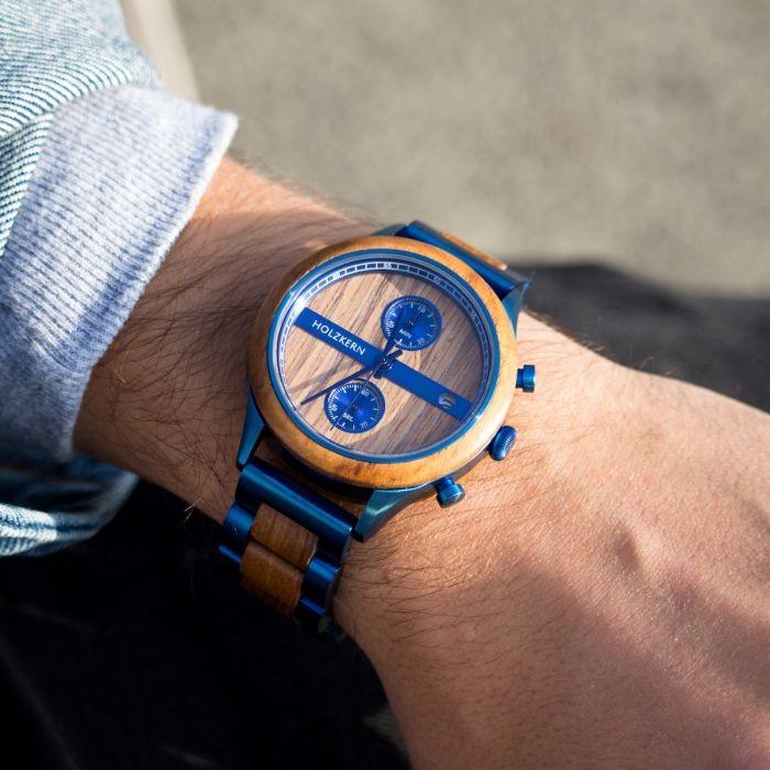 Holzkern Männer Armbanduhr Helix
