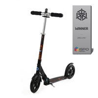 micro scooter black interlock