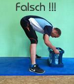 Fehlerbild Rückenschule Heben
