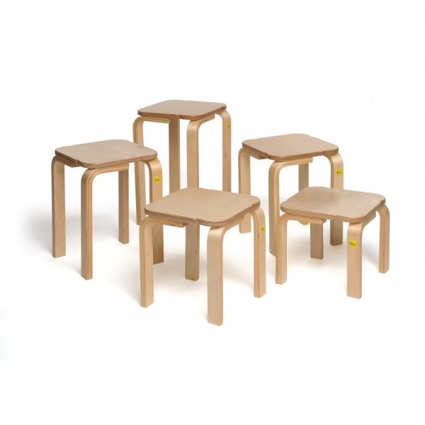 Erzi Hocker Sitzhocker Gymnastikhocker Holz