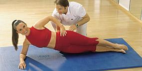 Gymnastikmatten Training und Therapie