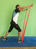 Theraband Arm Frontheben Krafttraining