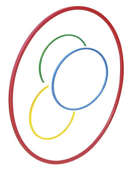 PVC-Gymnastikreifen 60cm (10er Set)