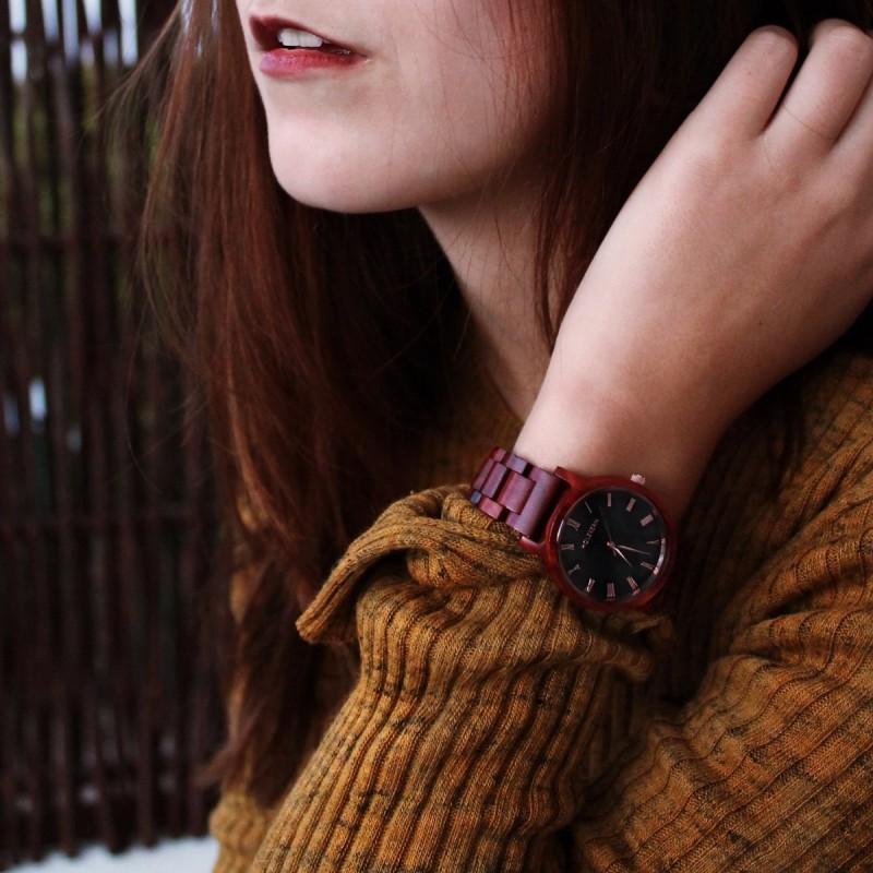 Holzkern Leidenschaft Armbanduhr für Damen
