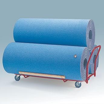 Mattenwagen für Rollmatten (3er)