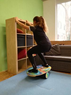 Rollerboard Übung tiefe Position
