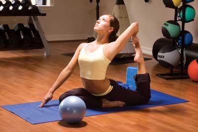 Gymnastikmatten Yoga und Pilates