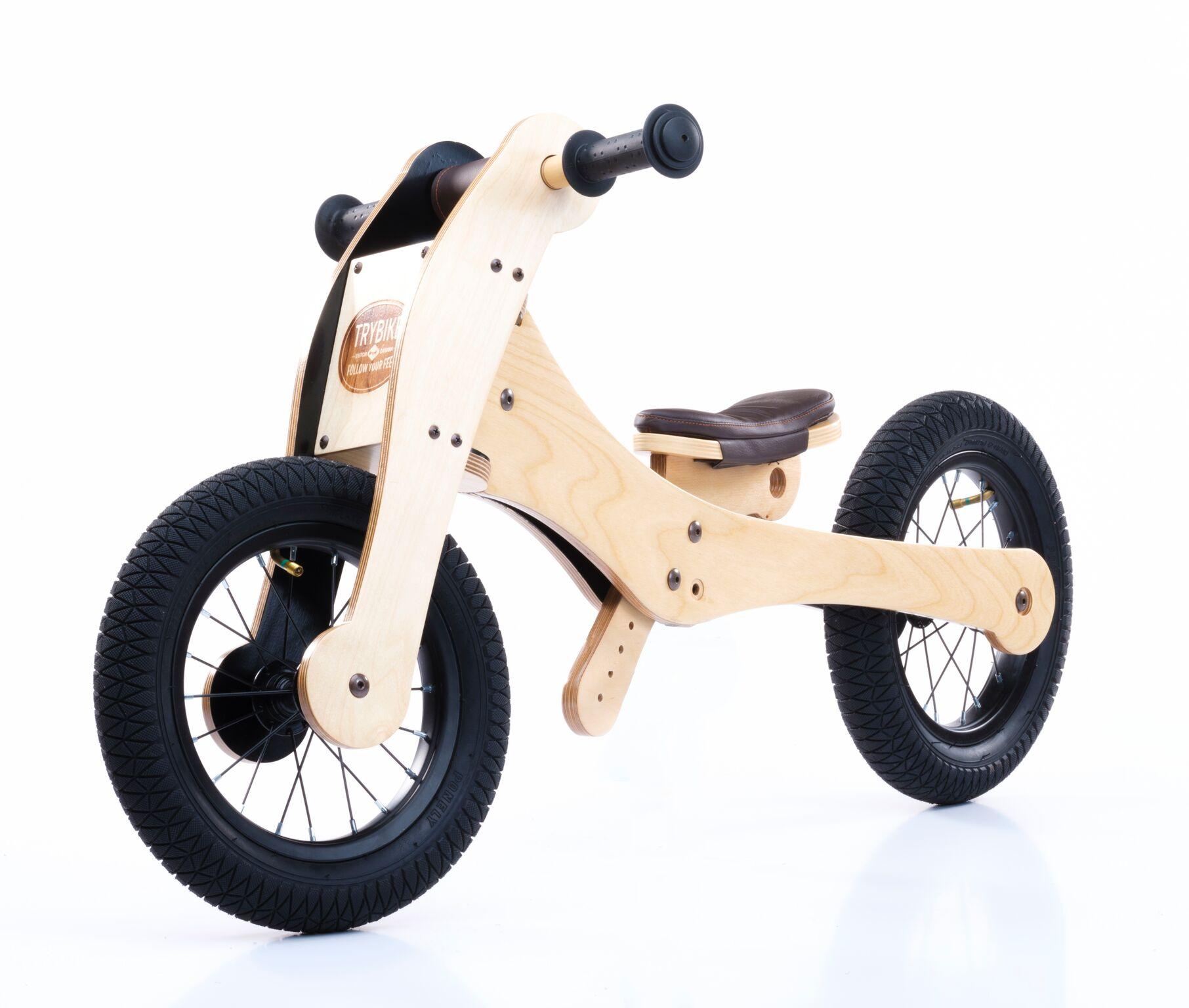 Trybike Balance Bike Wood 4 in 1 Laufrad