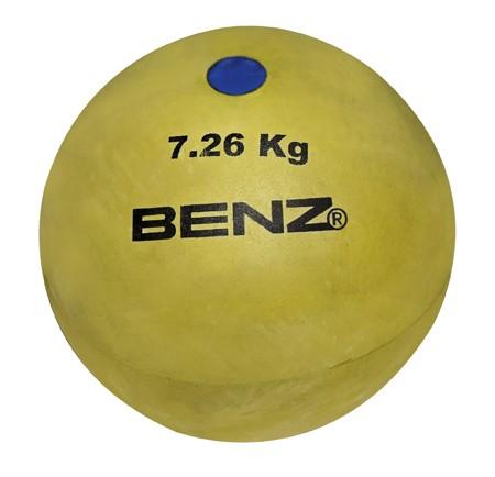6-er Set Hallen-Stoßkugel, Gummi 2,5-7,26 kg