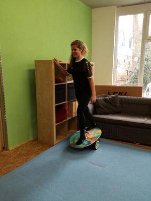Rollerboard Tricks Schrittstellung