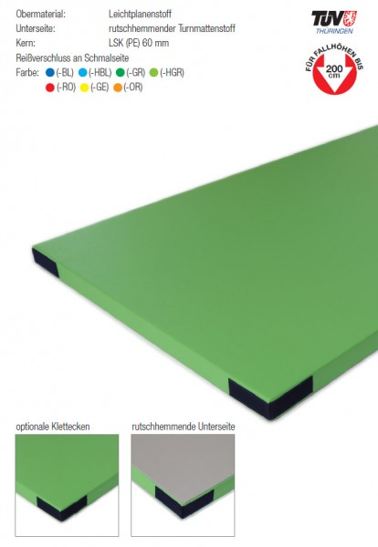 Bänfer Fallschutzmatte Superleicht 100x100x6cm