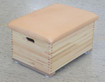 Kleinkasten Kiefer, 1teilig mit Kernrindleder