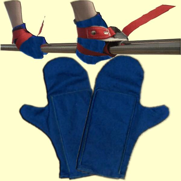 Verstellbare Sicherheitschlaufen und gepolsterten Handschuhen
