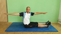 Pilates-Training Spine Twist